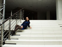 Красивая девушка в красивом городе Стоковые Фото