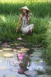 Красивая девушка в природе, конце вверх Стоковое Фото