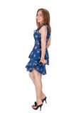 Красивая девушка в платье стоковые изображения rf