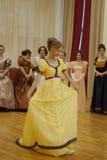 Красивая девушка в старом платье Стоковая Фотография