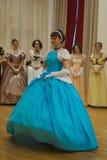 Красивая девушка в старом платье Стоковое Фото
