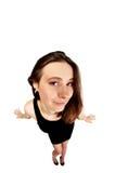 Красивая девушка в черном платье Стоковое фото RF