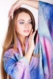 Красивая девушка в ярких одеждах Стоковое фото RF