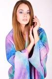 Красивая девушка в ярких одеждах Стоковые Фотографии RF