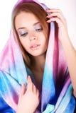 Красивая девушка в ярких одеждах Стоковое Изображение