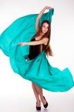 Красивая девушка в ярких одеждах Стоковое Изображение RF