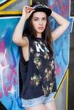 Красивая девушка на улице Стоковое Изображение