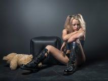 Красивая девушка - предназначенный для подростков стиль аниме Стоковая Фотография RF