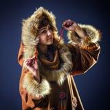 Красивая девушка севера Портрет Стоковое Фото