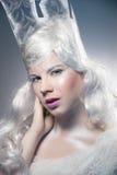 Красивая девушка с творческим компенсирует Новый Год Зима po Стоковые Изображения