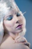 Красивая девушка с творческим компенсирует Новый Год Зима po Стоковое фото RF