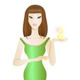 Красивая девушка с дух бесплатная иллюстрация