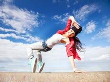 Красивая девушка танцев в движении Стоковая Фотография RF
