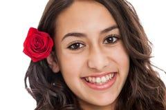 Красивая девушка твена стоковая фотография rf