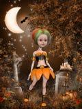 Красивая девушка тыквы Мультяшки Стоковое фото RF