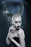 Красивая девушка луны Стоковые Фото