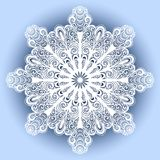 Красивая декоративная снежинка Стоковая Фотография