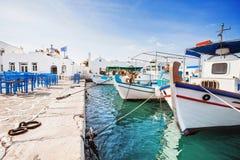 Красивая деревня Naousa, остров Paros, Киклады, Греция Стоковые Изображения RF