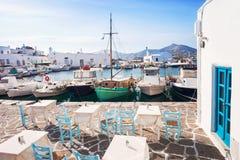 Красивая деревня Naousa, остров Paros, Киклады, Греция Стоковое Изображение RF