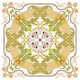 Красивая детальная орнаментальная картина Стоковое Изображение