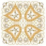 Красивая детальная орнаментальная картина Стоковые Изображения RF