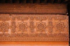 Красивая деталь в усыпальницах Saadian, Marrakech Стоковые Изображения RF