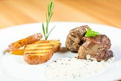 Красивая еда ресторана Стоковые Изображения RF