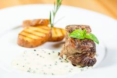 Красивая еда ресторана Стоковое Изображение RF