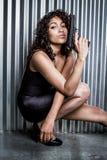 Красивая женская шпионка стоковые изображения rf
