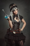 Красивая женщина алхимика Стоковое Фото