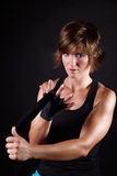Красивая женщина боксера Стоковое Фото