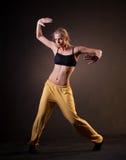Красивая женщина в движении Стоковая Фотография