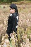 Красивая женщина в лесе Стоковая Фотография