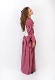 Красивая женщина в историческом платье стоковое фото