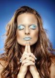 Красивая женщина как ферзь льда Стоковое Изображение RF