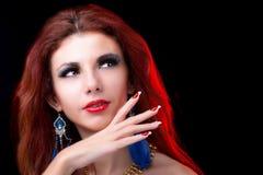 Красивая женщина моды портрета Стоковые Изображения RF
