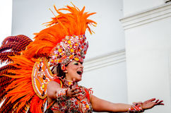 Красивая женщина на масленице Notting Hill Стоковые Фото
