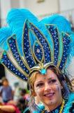 Красивая женщина на масленице Notting Hill Стоковое Изображение