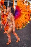 Красивая женщина на масленице Notting Hill Стоковое Фото