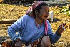 Красивая женщина Непала стоковое фото rf