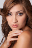 Красивая женщина с большой кожей Стоковые Фотографии RF