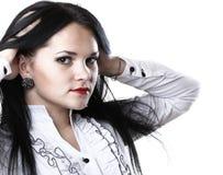 Красивая женщина с длинными волосами стоковое фото