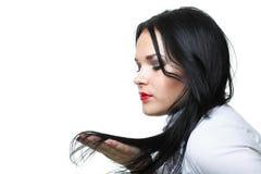 Красивая женщина с длинными волосами Стоковая Фотография