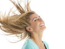 Красивая женщина с открытыми всем ветрам волосами Стоковое Изображение RF