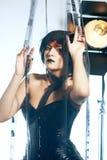 Красивая женщина с стилем причёсок filmstrips Стоковое Изображение