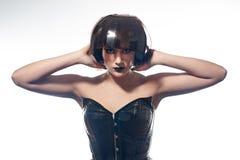 Красивая женщина с стилем причёсок filmstrips Стоковые Фотографии RF