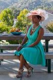 Красивая женщина с шляпой Стоковое Изображение RF