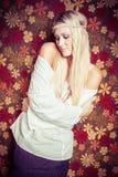 Красивая женщина хиппи Стоковые Изображения