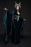 Красивая женщина эльфа фантазии Стоковые Изображения