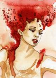 Красивая женщина Стоковая Фотография RF